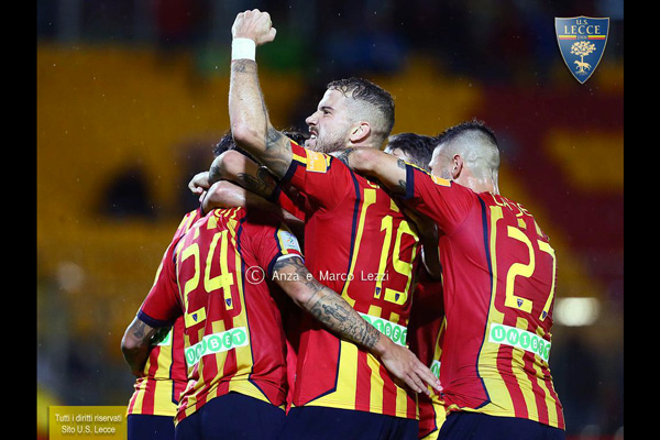 Serie B, l'Us Lecce è seconda in classifica